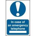 In case of emergency telephone - PVC (200 x 300mm)