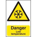 Danger Low temperature - PVC (200 x 300mm)