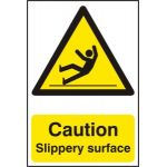 Caution Slippery surface - PVC (200 x 300mm)