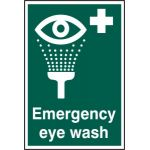 Emergency eye wash - PVC (200 x 300mm)