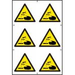 Corrosive symbols - PVC (200 x 300mm)