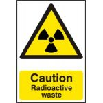 Caution Radioactive waste - PVC (200 x 300mm)