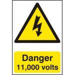 Danger 11000 volts - PVC (200 x 300mm)