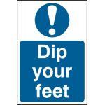 Dip your feet - PVC (200 x 300mm)