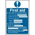 First aid procedure - PVC (200 x 300mm)