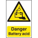Danger Battery acid - PVC (200 x 300mm)