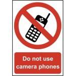 Do not use camera phones - PVC (200 x 300mm)