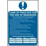Code of practice for the use of bandsaws - PVC (200 x 300mm)