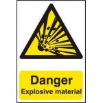 Danger Explosive material - PVC (200 x 300mm)