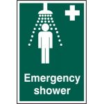 Emergency shower - PVC (200 x 300mm)