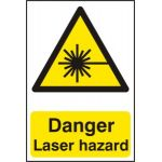 Danger Laser hazard - PVC (200 x 300mm)