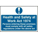 Health & Safety at Work Act 1974 - PVC (300 x 200mm)