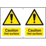 Caution Hot surface - PVC (300 x 200mm)