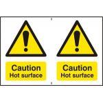 Caution Hot surface - PVC (300 x 200mm)