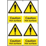 Caution Hot surface - PVC (200 x 300mm)