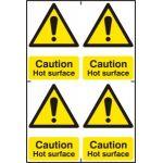 Caution Hot surface - PVC (200 x 300mm)