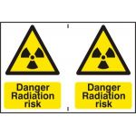 Danger Radiation risk - PVC (300 x 200mm)