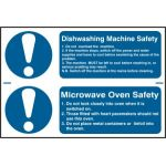 Dishwashing machine safety / Microwave oven safety - PVC (300 x 200mm)