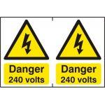 Danger 240 volts - PVC (300 x 200mm)