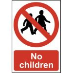 No children - PVC (200 x 300mm)