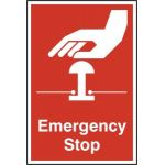 Emergency stop - PVC (200 x 300mm)