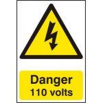 Danger 110 volts - PVC (200 x 300mm)
