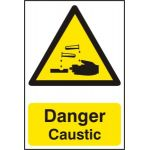 Danger Caustic - PVC (200 x 300mm)