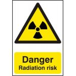 Danger Radiation risk - PVC (200 x 300mm)