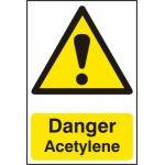 Danger Acetylene - PVC (200 x 300mm)