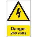 Danger 240 volts - PVC (200 x 300mm)