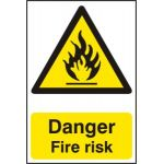 Danger Fire risk - PVC (200 x 300mm)