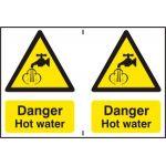 Danger Hot water - PVC (300 x 200mm)