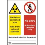 Radiation controlled area No entry... - PVC (200 x 300mm)