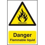 Danger Flammable liquid - PVC (200 x 300mm)