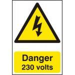 Danger 230 volts - PVC (200 x 300mm)