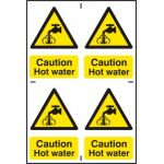 Caution Hot water - PVC (200 x 300mm)