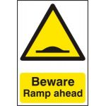 Beware Ramp ahead - PVC (200 x 300mm)