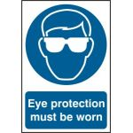 Eye protection must be worn - PVC (200 x 300mm)