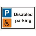 Disabled parking - PVC (300 x 200mm)