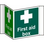 First aid box (Projection sign) - RPVC (200mm face)