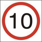 10mph (speed limit) - FMX (400 x 400mm)