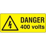 Danger 400 volts - SAV (49 x 20mm, sheet of 56 labels)