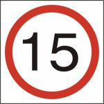 15mph (speed limit) - FMX (400 x 400mm)