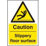 Caution Slippery floor surface - RPVC (400 x 600mm)