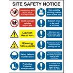 Composite site safety notice - FMX (600 x 800mm)