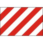 Red & white warning panel - PVC (600 x 400mm)