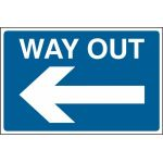 Way out arrow left - FMX (600 x 400mm)
