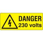Danger 230 volts - SAV (96 x 38mm, sheet of 15 labels)