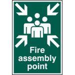 Fire assembly point - PYC (200 x 300mm)