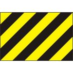 Black & yellow warning panel - PVC (600 x 400mm)